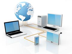 global communications - stock illustration