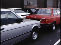 Assorted Empty Cars in a Long Line - stock footage