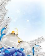 Stock Illustration of blue sparkling  new year background