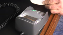 Chip and pin payment on card machine Stock Footage