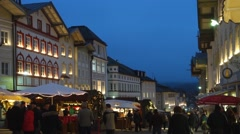 Christmas market in bad toelz, upper bavaria, germany Stock Footage