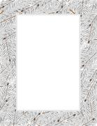 snow covered fir tree branches - stock illustration