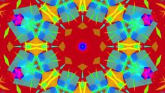 Fast Psychedelic Colorful Kaleidoscope VJ background loop 2 Stock Footage
