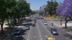 Recoleta Traffic Buenos Aires 3 Stock Footage