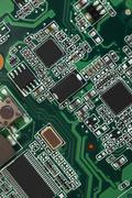 electronic micro circuit - stock photo