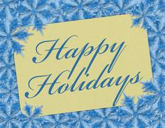 happy holidays - stock illustration