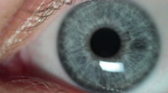 Macro Eye Closeup Stock Footage