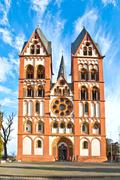 famous gothic dome in limburg, germany in beautiful colors - stock photo