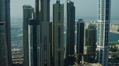 Stock Video Footage of Aerial Dubai Palm Jumeirah Homes Atlantis Hotel UAE