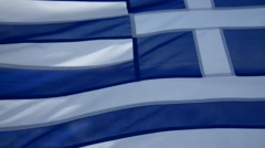Stock Video Footage of greece flag on the ship