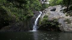7 Kot waterfall (beautiful small waterfall in Saraburi Province Stock Footage