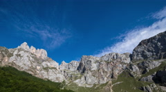 4k picos de europa fuente de timelapse mountains spain spectacular summer Stock Footage