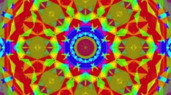 Fast Psychedelic Colorful Kaleidoscope VJ background loop 4 Stock Footage