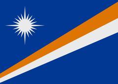 Marshall islands flag vector Stock Illustration