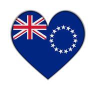 cook islands heart flag vector - stock illustration
