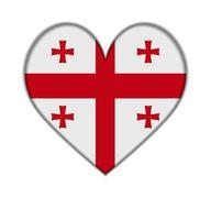 Stock Illustration of georgia heart flag vector