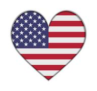 United states heart flag vector Stock Illustration