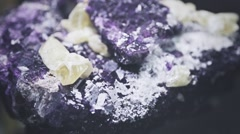 Amethyst on rock Stock Footage