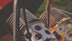 Flame in balloon burners Stock Footage