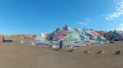 God Is Love Hill At Salvation Mountain- Niland California - stock footage