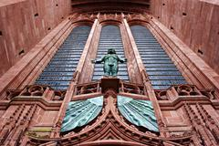exterior view of liverpool anglican cathedral uk - stock photo