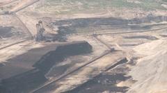 Open Coal Mining in Germany Stock Footage