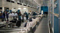 Timelapse of Oman Air Check-In Counter at Muscat International Airport Stock Footage