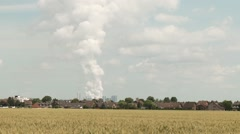 Heavy Industry near houses in germany Stock Footage