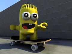 Mr paz skateboarding Piirros
