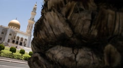 Motion Timelapse of Al Zawawi Mosque in the Khuwair Area of Muscat - stock footage