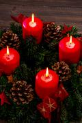 Advent wreath for christmas Stock Photos