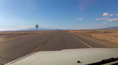 Viewpoint Of Driver On Highway In Barren Desert- Imperial County CA - stock footage