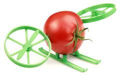 Tomato hovercraft Stock Photos