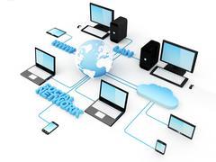 Global network Stock Illustration