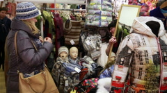 Customers in the store during the Christmas sales - stock footage