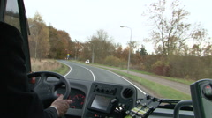 Hand of bus driver chauffeur Stock Footage