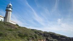 4k lighthouse galicia coast sea ocean Stock Footage