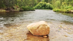 stream of clean water - stock footage