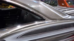 Stock Video Footage of 4k Motorshow Chevy Impala Super Sport panning interior