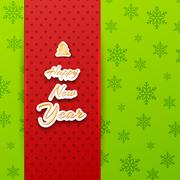 Merry Christmas and happy new year Background Concept. Vector Il - stock illustration