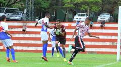 Goalkepper save the goal - Soccer game - 28 Stock Footage