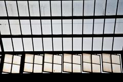 roof of classicistic trainstation in wiesbaden - stock photo