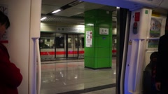 The subway traffic, in Shenzhen, China Stock Footage