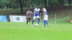 Soccer game - soccer ball kick 31 - stock footage