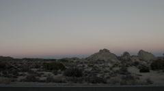 Sunset at Joshua Tree National Park Stock Footage