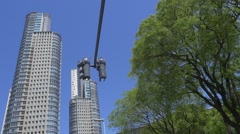 Skyscrapers of Puerto Madero in Buenos Aires Stock Footage