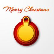 Stock Illustration of Merry Christmas and happy new year Background Concept. Vector Il