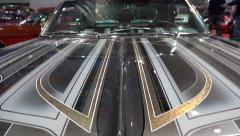 4k Motorshow Chevy Impala Super Sport tilt front Stock Footage