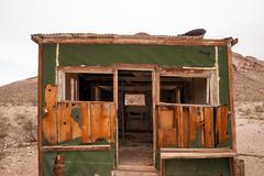 Primitive building still stands rhyolite ghost town nevada Stock Photos