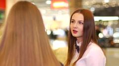 Beautiful redhead girl - stock footage